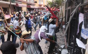 Teachers in Mexico City destroy the offices of elected officials during a strike this fall.