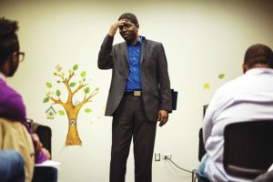 Pastor Jamie Frazier is the leader of the Lighthouse Church in the South Loop neighborhood of Chicago.