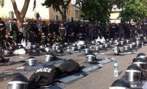 In 2013, when Thai police laid down their riot gear and allowed protesters access to the presidential house, many questioned whether it was a show of solidarity or government strategy.
